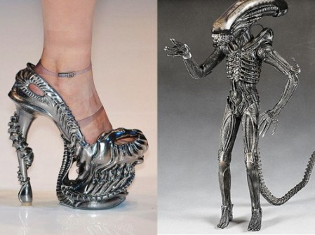 Alexander McQueen's alien high heel shoes