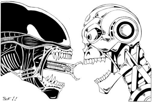 Alien and terminator stereotypes