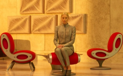 Charlize Theron's gray suit in Prometheus