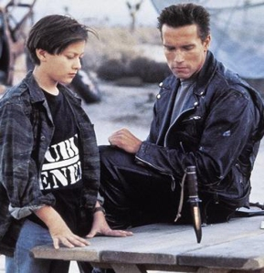 John Connor in a Public Enemy shirt