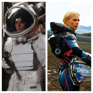 Spacesuits from Alien and Prometheus