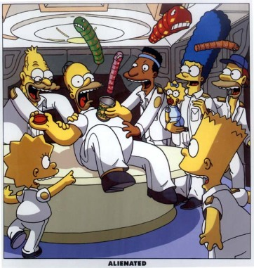 The Simpsons' chestburster spoof