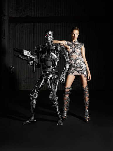 Terminator fashion in Harper's Bazaar