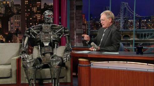 Dad's terminator friend on David Letterman's show
