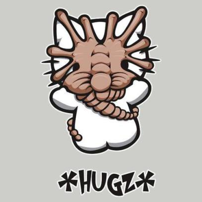 Facehugger on Hello Kitty
