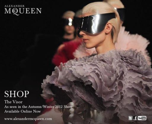Alexander McQueen's visor