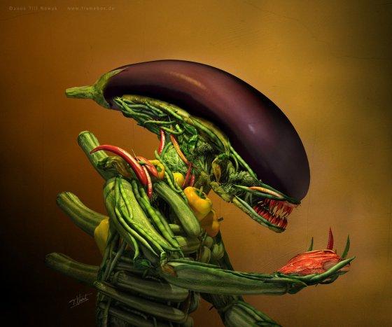 Alien portrait by Rodrigo Silva