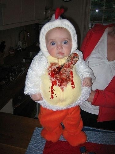 Human baby with a chestburster