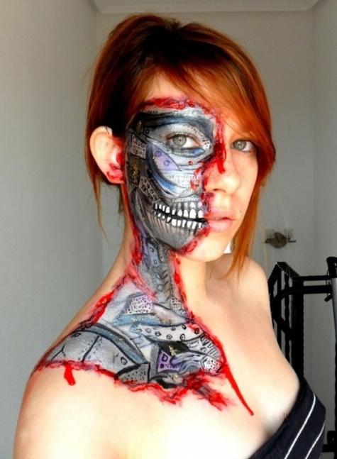 terminator face paint