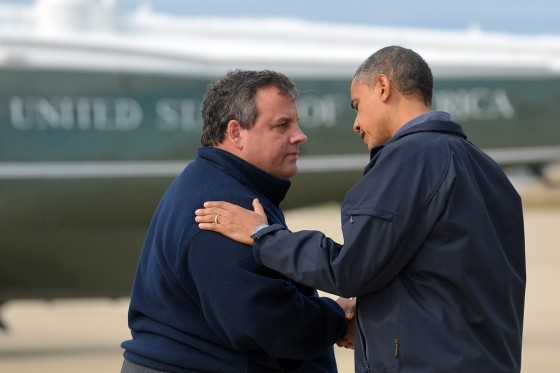 Obama and Christie