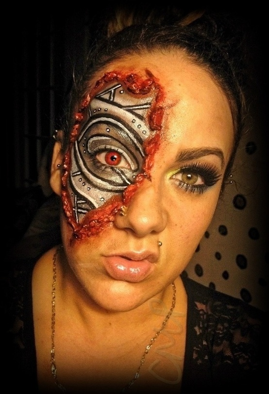 Awesome terminator face paint   Ripley Connor