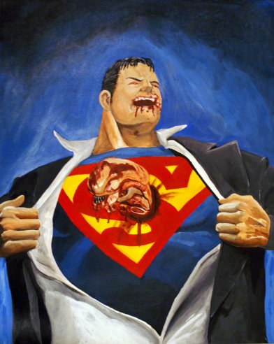 Chestburster in Superman